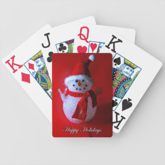 Peace Sign Christmas Snowman Bicycle Playing Cards