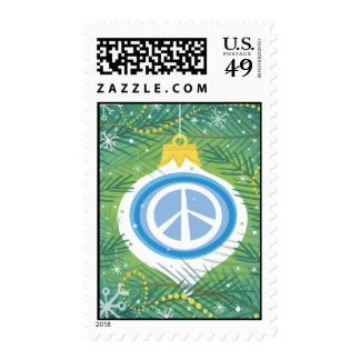 Peace sign Christmas Stamp