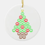 Peace Sign Christmas Tree Christmas Ornaments