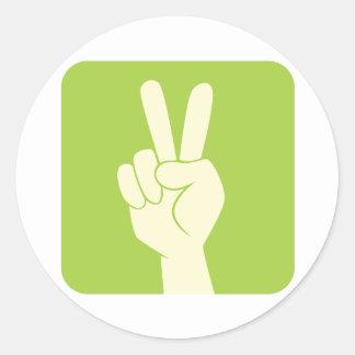 Peace Sign Classic Round Sticker