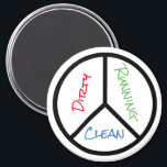 """Peace Sign Clean Dirty Running Dishwasher Magnet<br><div class=""""desc"""">Rotate the magnet to remind you when your dishes need to be cleaned</div>"""