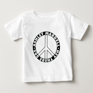 Peace Sign Clear Baby T-Shirt