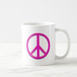 PEACE SIGN COFFEE MUG