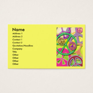 PEACE SIGN COLLAGE BUSINESS CARDS