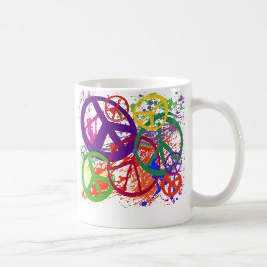 PEACE SIGN COLLAGE COFFEE MUG