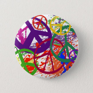 PEACE SIGN COLLAGE PINBACK BUTTON