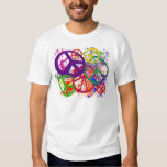 PEACE SIGN COLLAGE SHIRT