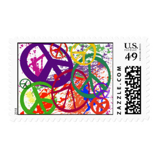 PEACE SIGN COLLAGE STAMP