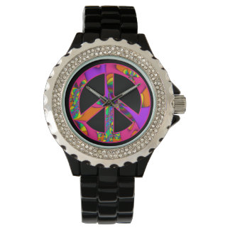 Peace Sign Color Me Bright Watch