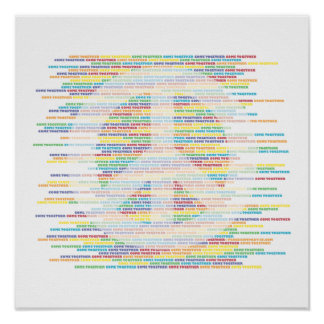 PEACE Sign - COME TOGETHER Poster
