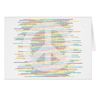 Peace Sign - Come Together WHITE Card