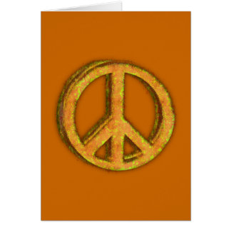 PEACE SIGN CORRODED CARD