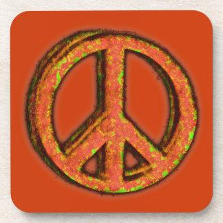 PEACE SIGN CORRODED Coaster Set