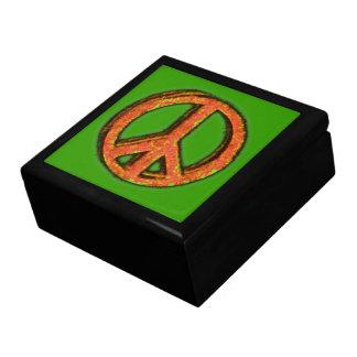 PEACE SIGN CORRODED Keepsake Box