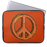 PEACE SIGN CORRODED Laptop Sleeve