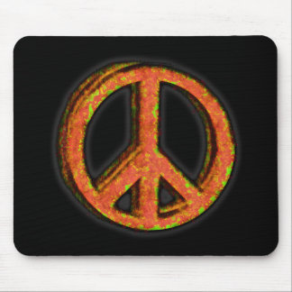 PEACE SIGN CORRODED MOUSE PAD