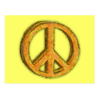 PEACE SIGN CORRODED POST CARD