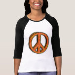 PEACE SIGN CORRODED SHIRTS