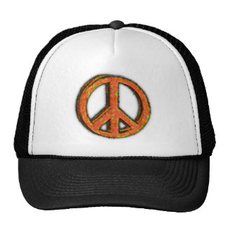 PEACE SIGN CORRODED TRUCKER HAT
