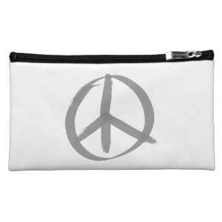 Peace Sign Cosmetic Bag