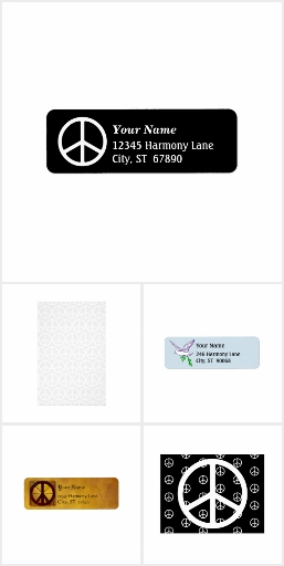 Peace Sign Custom Stationery and Postage