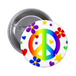peace sign design 2 inch round button