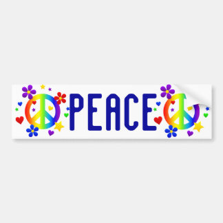 peace sign design bumper sticker