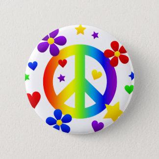 peace sign design button