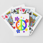 peace sign design deck of cards