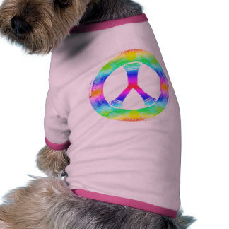 Peace Sign Doggie Outfit Pet Tee