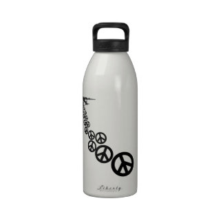 Peace sign drinking bottles