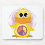 Peace Sign Duck Mousepads