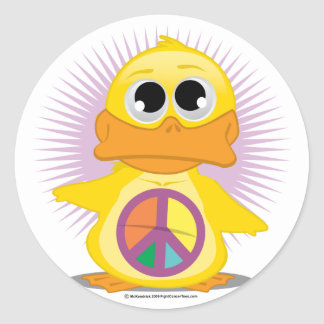 Peace Sign Duck Stickers