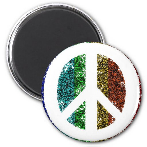Peace Sign Electric Magnet