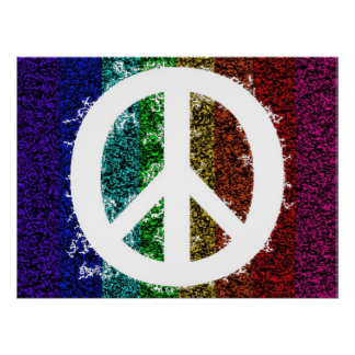 Peace Sign Electric Posters