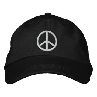 Peace Sign Embroidered Baseball Hat