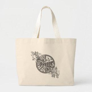 Peace Sign Filigree Floral Bag