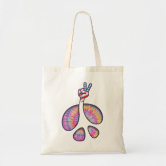 Peace Sign Flag Hand Tote Bag