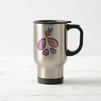 Peace Sign Flag Hand Travel Mug