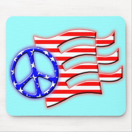 PEACE SIGN FLAG MOUSE PADS