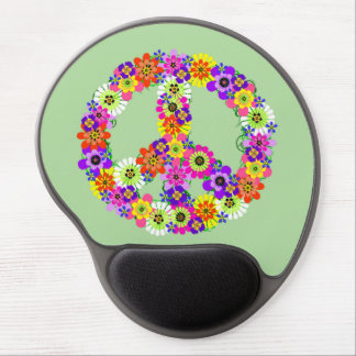 Peace Sign Floral Gel Mouse Pad