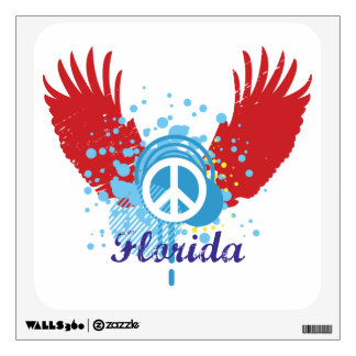 Peace Sign - Florida Wall Graphic