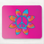 Peace Sign Flower Mouse Pads