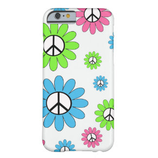 Peace Sign Flowers Barely There iPhone 6 Case