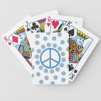 Peace Sign Flowers Bicycle Playing Cards