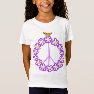 Peace Sign Flowers Butterfly Shirt