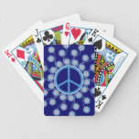 Peace Sign Flowers Deck Of Cards