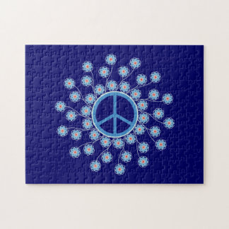 Peace Sign Flowers Jigsaw Puzzle