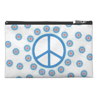 Peace Sign Flowers Travel Accessories Bag