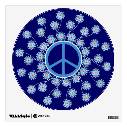 Peace Sign Flowers Wall Decor Zazzle